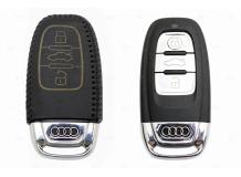 Чехол для ключей Audi кожаный (T2, BGT-LKH-Au-Y806-B)