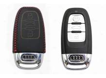 Чехол для ключей Audi кожаный (T2, BGT-LKH-Au-Y806-R)