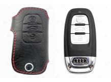 Чехол для ключей Audi кожаный (T1, BGT-LKH001-Au)