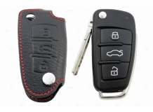 Чехол для ключей Audi кожаный (T1, BGT-LKH408-Au)
