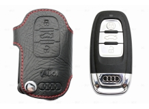 Чехол для ключей Audi кожаный (T1, BGT-LKH806-Au)