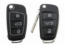 Чехол для ключей Audi силиконовый (BGT-SKH408-Au-Bk)