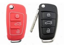 Чехол для ключей Audi силиконовый (BGT-SKH408-Au-Rd)