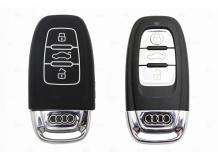 Чехол для ключей Audi силиконовый (BGT-SKH806-Au-Bk)