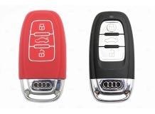 Чехол для ключей Audi силиконовый (BGT-SKH806-Au-Rd)