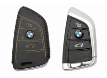 Чехол для ключей BMW кожаный (T2, BGT-LKH-BMW-F15-B)