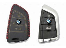 Чехол для ключей BMW кожаный (T2, BGT-LKH-BMW-F15-R)