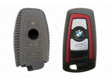 Чехол для ключей BMW кожаный (T2, BGT-LKH-BMW-Y809-B)