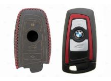 Чехол для ключей BMW кожаный (T2, BGT-LKH-BMW-Y809-R)