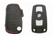 Чехол для ключей BMW кожаный (T1, BGT-LKH507-BM)