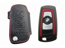 Чехол для ключей BMW кожаный (T1, BGT-LKH809-BM)