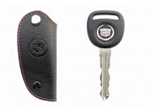 Чехол для ключей Cadillac кожаный (T1, BGT-LKH-Cad-1)
