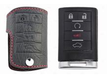 Чехол для ключей Cadillac кожаный (T1, BGT-LKH802-Cad5)