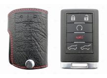 Чехол для ключей Cadillac кожаный (T1, BGT-LKH802-Cad6)