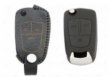 Чехол для ключей Chevrolet кожаный (T2, BGT-LKH-Ch-Y102-B)