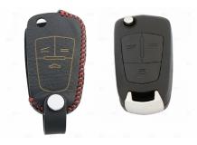 Чехол для ключей Chevrolet кожаный (T2, BGT-LKH-Ch-Y102-R)
