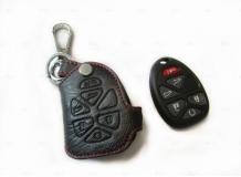 Чехол для ключей Chevrolet кожаный (T1, BGT-LKH-Tah2)