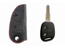Чехол для ключей Chevrolet кожаный (T1, BGT-LKH104-Ch)