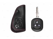 Чехол для ключей Chevrolet кожаный (T1, BGT-LKH105-Ch)