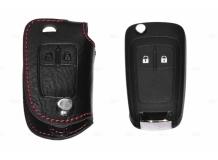 Чехол для ключей Chevrolet кожаный (T1, BGT-LKH107-Ch)