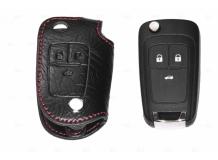 Чехол для ключей Chevrolet кожаный (T1, BGT-LKH108-Ch)