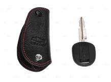 Чехол для ключей Chevrolet кожаный (T1, BGT-LKH409-Ch)