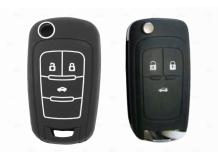 Чехол для ключей Chevrolet силиконовый (BGT-SKH102-Ch-Bk)