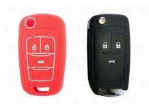 Чехол для ключей Chevrolet силиконовый (BGT-SKH102-Ch-Rd)
