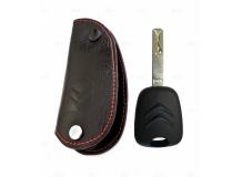 Чехол для ключей Citroen кожаный (T1, BGT-LKH409-Cit1)