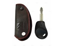 Чехол для ключей Citroen кожаный (T1, BGT-LKH409-CitB)