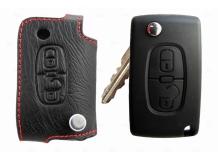 Чехол для ключей Citroen кожаный (T1, BGT-LKH501-Cit2)