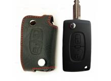 Чехол для ключей Citroen кожаный (T1, BGT-LKH511-Cit2)