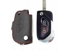 Чехол для ключей Citroen кожаный (T1, BGT-LKH516-Cit)