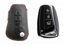 Чехол для ключей Hyundai кожаный (T1, BGT-LKH001-Hyu)