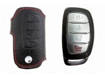 Чехол для ключей Hyundai кожаный (T1, BGT-LKH002-Hyu)