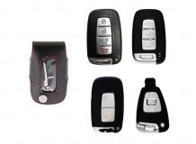 Чехол для ключей Hyundai кожаный (T1, BGT-LKH906-Hyu)