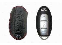 Чехол для ключей Infiniti кожаный (T1, BGT-LKH701In-3B)