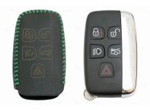 Чехол для ключей Jaguar кожаный (T2, BGT-LKH-JLR-Y1-G)