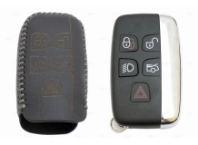 Чехол для ключей Jaguar кожаный (T2, BGT-LKH-JLR-Y1-S)