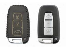 Чехол для ключей Kia кожаный (T2, BGT-LKH-KiHySy-Y906-B)