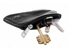 Чехол для ключей Kia кожаный, универсальный (BGT-LKH-UNB-Ki)
