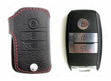 Чехол для ключей Kia кожаный (T1, BGT-LKH001-Ki)
