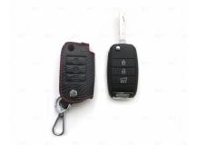 Чехол для ключей Kia кожаный (T1, BGT-LKH003-Ki)