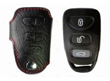 Чехол для ключей Kia кожаный (T1, BGT-LKH808-Ki)