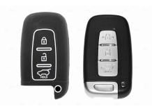 Чехол для ключей Kia силиконовый (BGT-SKH-KiHySy-Bk)