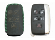 Чехол для ключей Land Rover кожаный (T2, BGT-LKH-JLR-Y1-G)