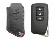 Чехол для ключей Lexus кожаный (T1, BGT-LKH-L12)