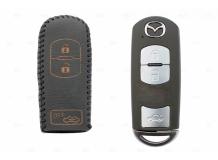 Чехол для ключей Mazda кожаный (T2, BGT-LKH-Mz-Y903-B)