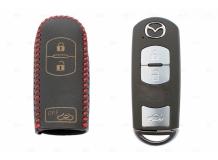 Чехол для ключей Mazda кожаный (T2, BGT-LKH-Mz-Y903-R)
