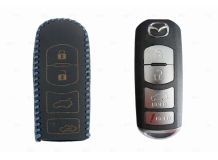 Чехол для ключей Mazda кожаный (T2, BGT-LKH-Mz-Y904-BLU)